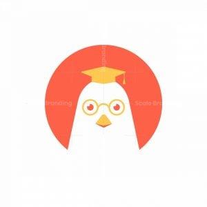 Chicken Bird Scientist Logo