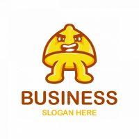 Lemon Mascot Cartoon Logo