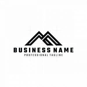 Initial Am Or M Mountain Logo