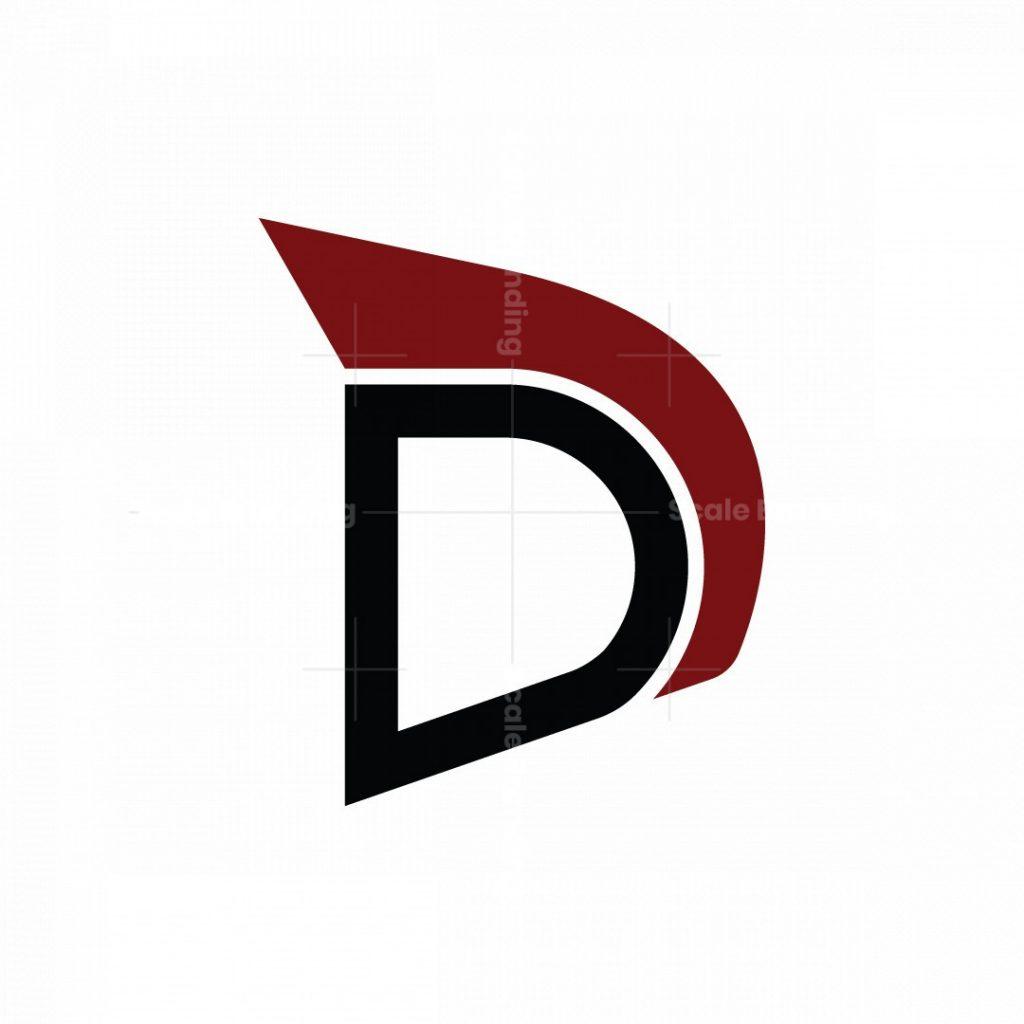 Letter D Spartan Logo