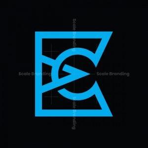 Modern E Or Ec Ce Logo