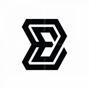 Abstract Initial Eb Be Logo