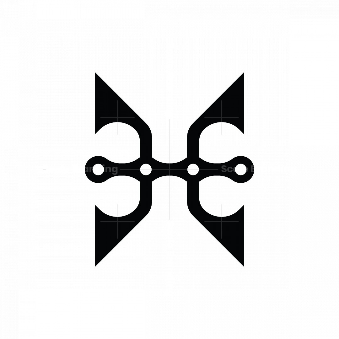Letter H Or Ehe Or Ee Chain Logo
