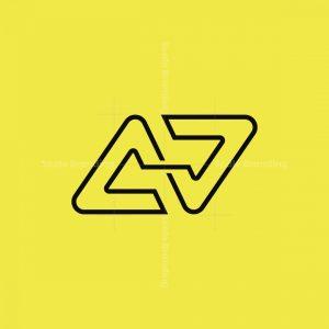 Modern Intial A J Logo