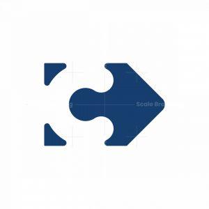Letter C Negative Space Logo