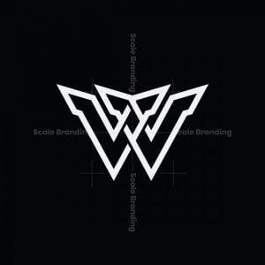 Modern W Or Vv Logo