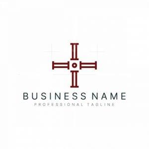 Medical Cross Letter I Logo
