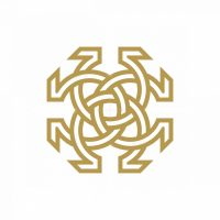 Abstract Flower Omega Logo