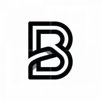 Overlapping Letter B Logo