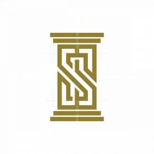 Letter S Pillar Law Logo