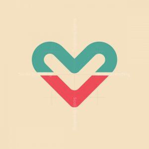 Letter M V Logo