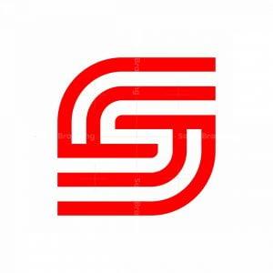 Letter S Double Line Logo