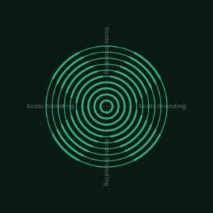 Letter X Line Target Logo
