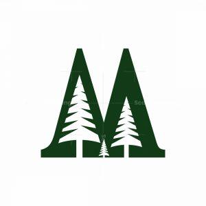 M Pine Tree Logo
