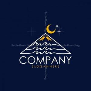 Mountain Wave Ocean Line Logo