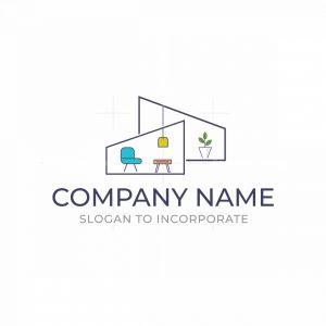 Minimalist House Furniture Logo