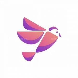 Modern Geometric Flying Bird Logo