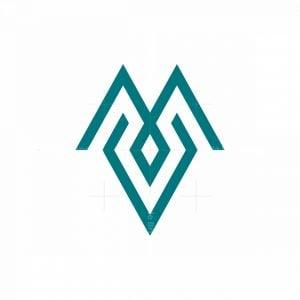 Monoline Letter Mv Logo