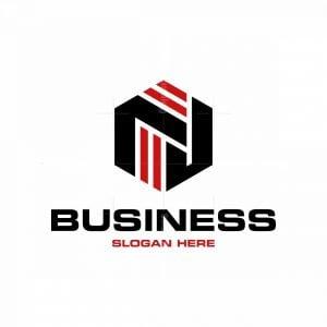 Letter Nj Cube Modern Logo