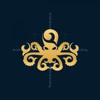 Octopus Ornament Luxury Logo
