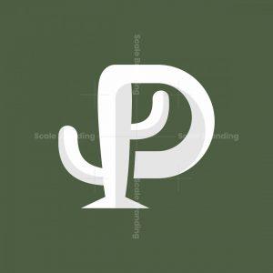 Letter P Cactus Logo