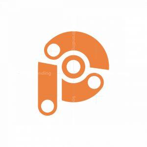 P Letter Rotation Logo