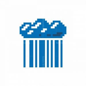 Pixel Barcode Cloud Logo