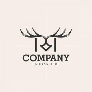 Letter Rr Deer Logo