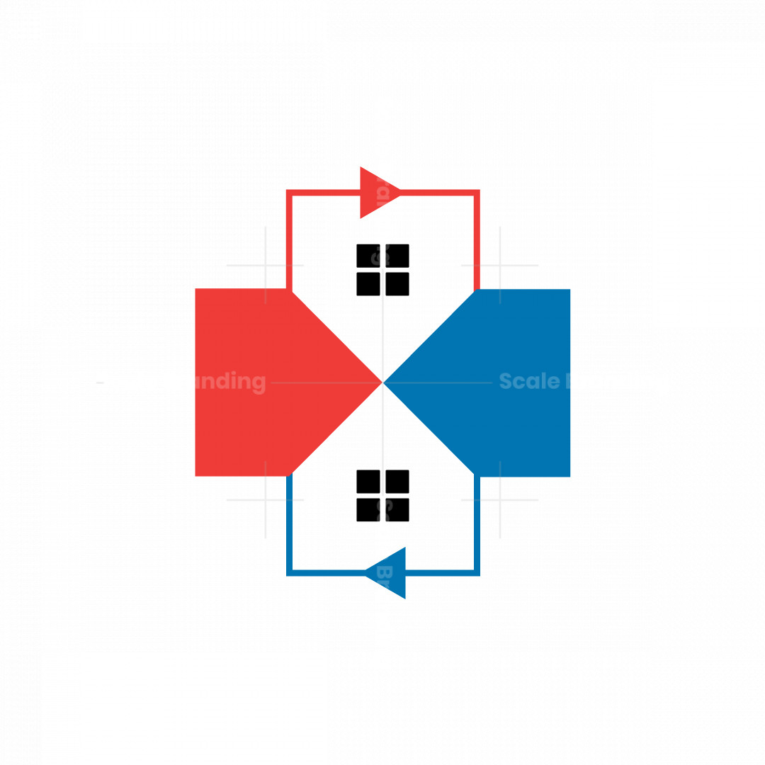 Real Estate And Dynamic Arrows Logo