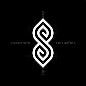 S Elegant Monogram Logo