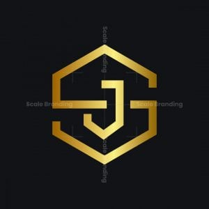 S And J Letter Logo