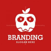 Skull Apple Vector Logo