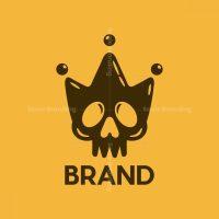 Skull Crown Silhouette Logo