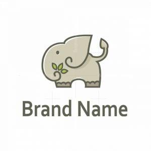 Elephant And Leaves Logo
