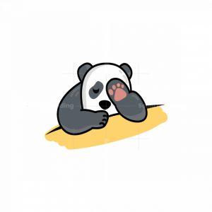 Sleeping Cute Panda Logo