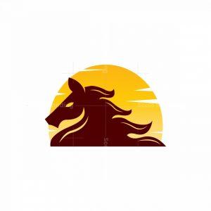 Horse And Sun Logo