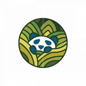 Panda In Jungle Logo