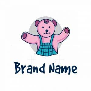 Pink Teddy Bear Logo