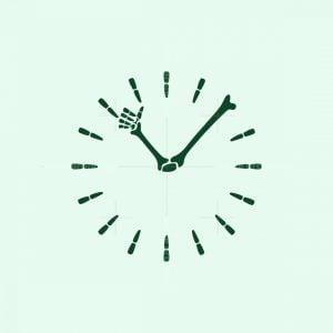 Skeleton Clock Logo