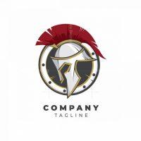 Spartan Helmet And Shield Logo