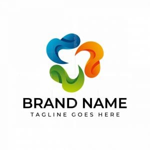 Spiral Rotation Colorful Logo
