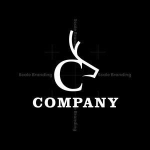 Styilsh Letter C Deer Logo