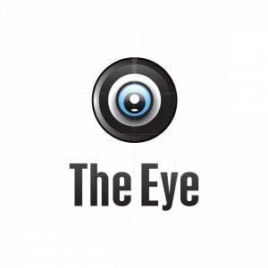 Abstract Modern Eye Shaped Logo