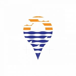 Sunset Map Logo Logo
