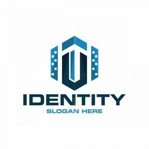 Letter U Building City Logo