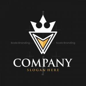 Letter V Crown Luxury Modern Logo