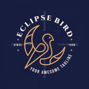 Vintage Luxury Crescent Eclipse Bird Logo