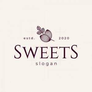 Vintage Luxury Sweets Chocolate Store Logo