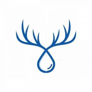 Water Drop Deer Logo