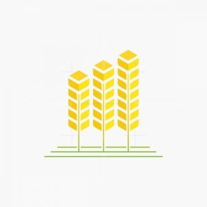 Wheat Tree Building Logo